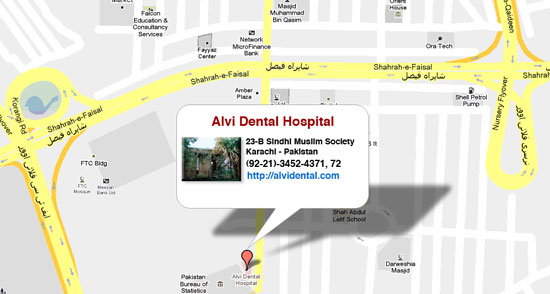 Alvi Dental Hospital Map