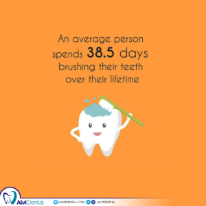 You brush 38.5 days over your life