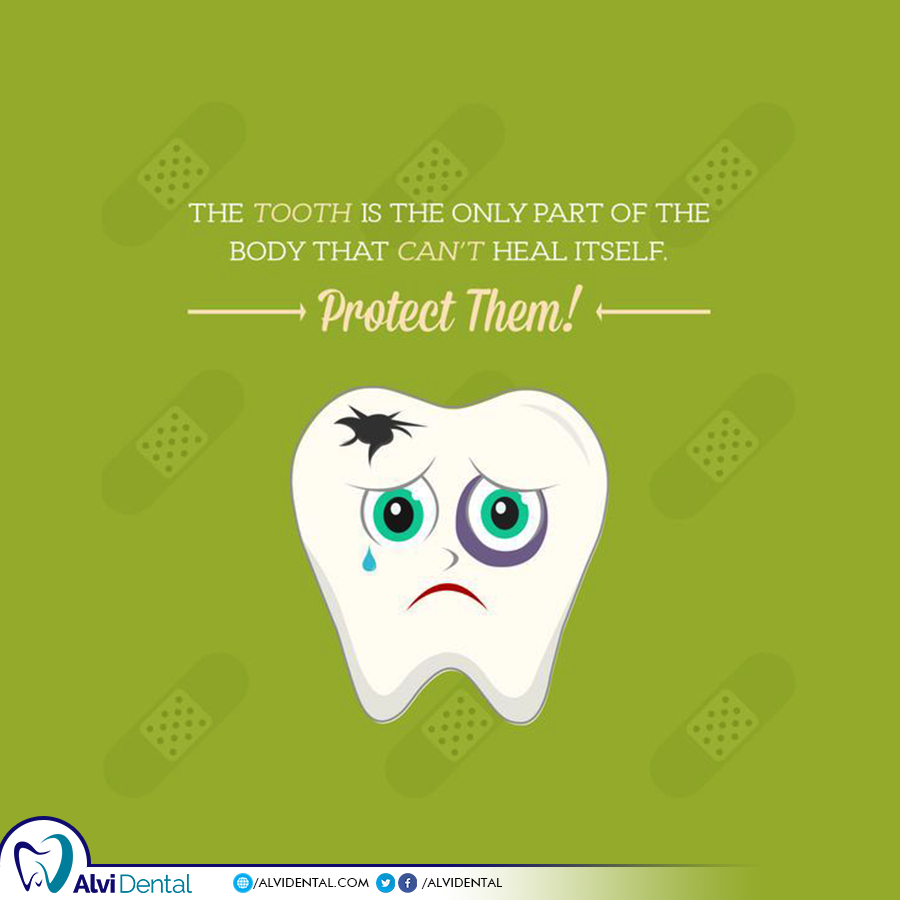 The tooth is the only part of the human body that can't repair itself